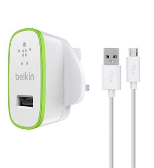 Belkin Ac Charger With Micro Usb Chargesync Cable (10W/ 2.1Amp)