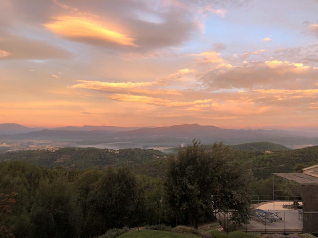 Sunset from the villa
