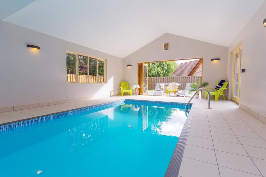 Heated indoor pools