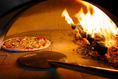 Pizza, fresh in the oven