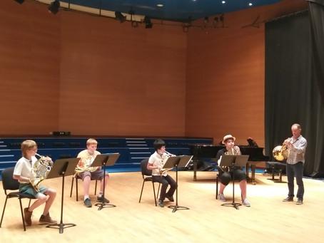 Les cors ouvrent la saison des auditions et concerts de fin d'année.