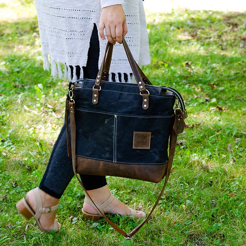 The Anne Tote in Midnight