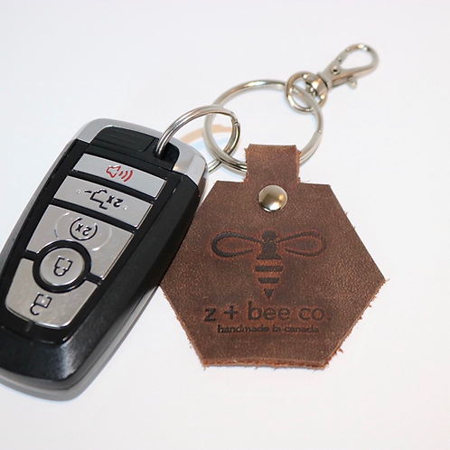 Honeycomb Key Chain - Utility Brown