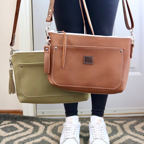 The Alexa Crossbody in Mocha