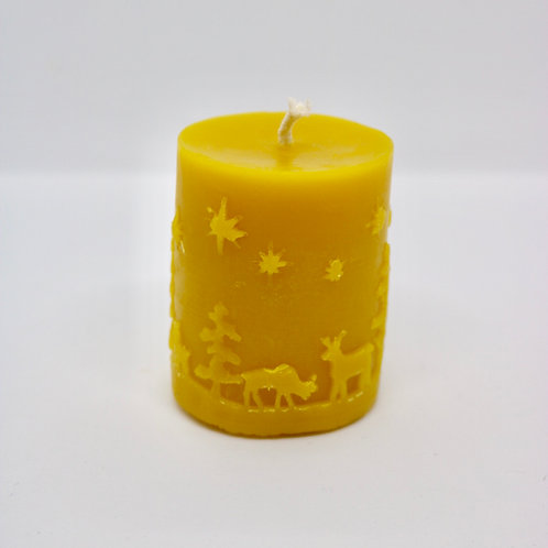 Z + Bee co. Winter Scene Beeswax Candle
