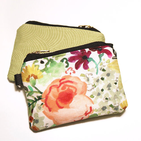 The Little Card Pouch - Watercolour Floral