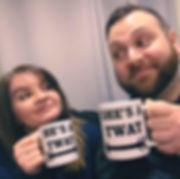 ReuBekah Vidz holding mugs