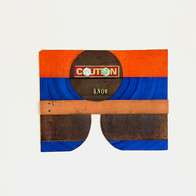 Caution, 2011 acrylic paint and found objects on wood 23 x 16.5 in.