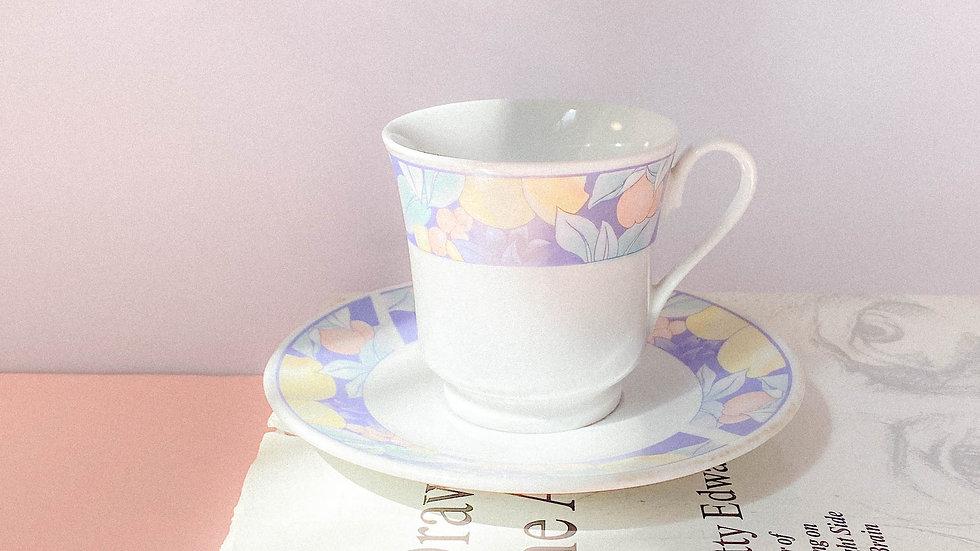 Tazas de té + platito 90's