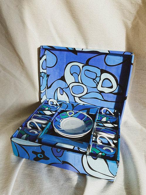 Set de pocillos abstractos x6