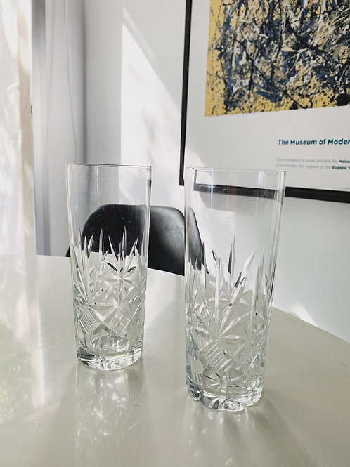 Vasos Tallados trago largo x2