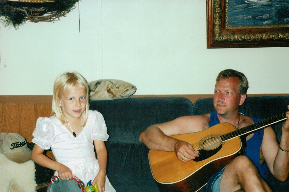 My father and I, enjoying music together.