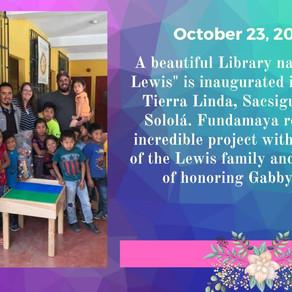 Gabby Lewis memorial Library update