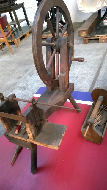 Handbetriebenes Spulrad