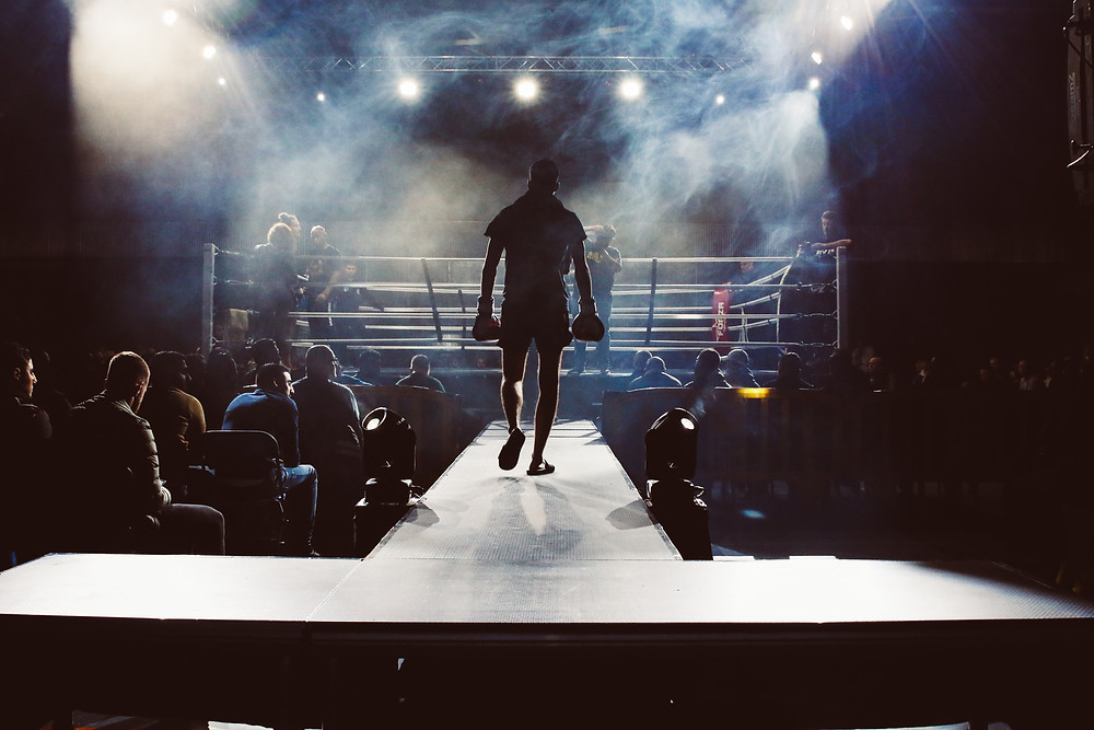 Boxer entering ring