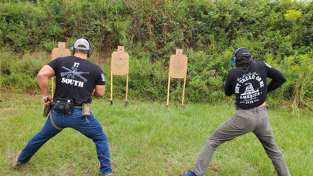 Two concealed carriers move off the spot and draw