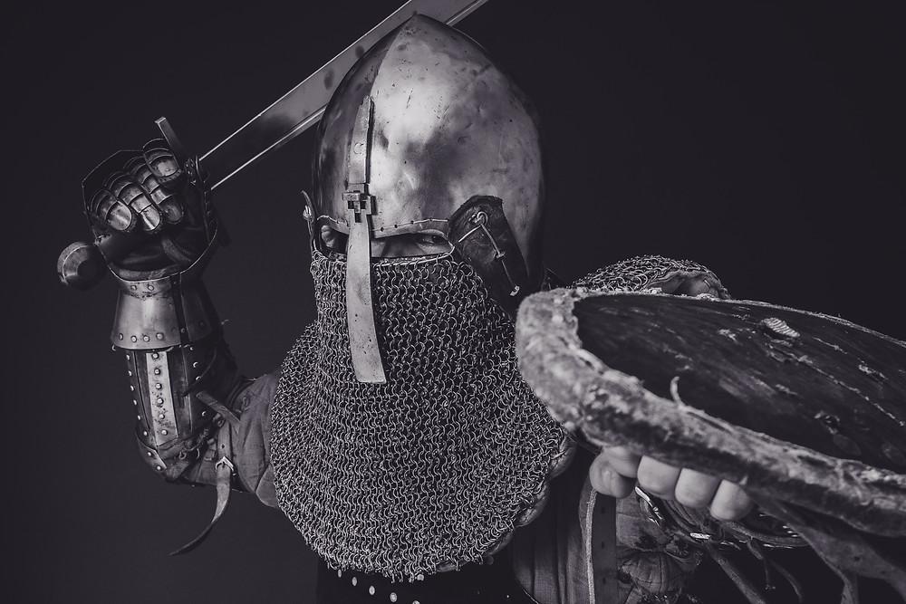 Solder with sword