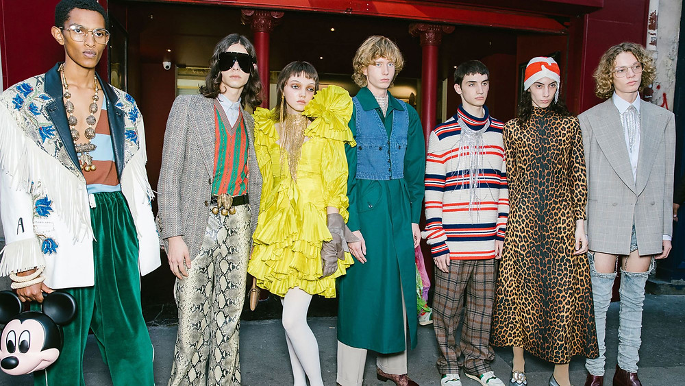 Models in Gucci SS19