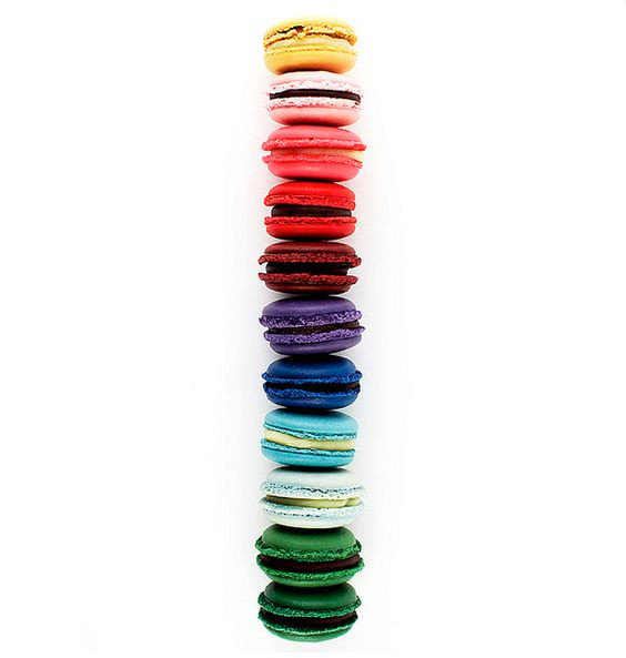 colourful macarons from Nadege Patisserie,  Toronto