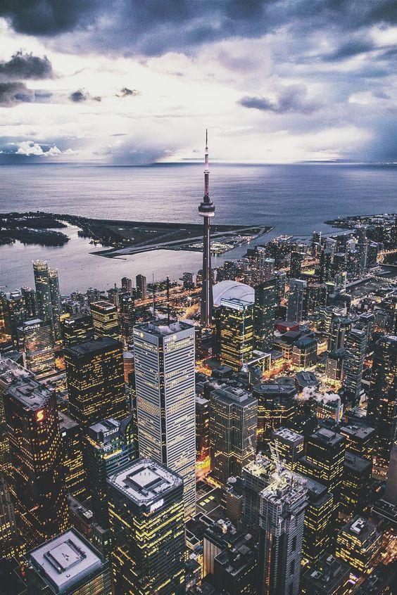 Toronto city, aerial photograph