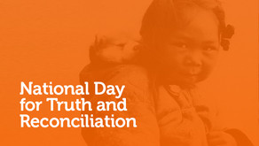 30 de setembro de 2021 marca o primeiro National Day for Truth and Reconciliation