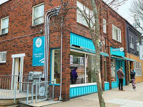 LF Bakery, croissants frescos diários, pão e café bem no centro de Halifax