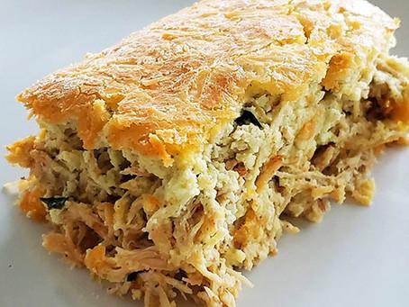 Conheça a torta low-carb de frango feita no liquidificador. Fácil e saudável.