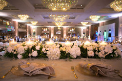 Bride and Groom Top table set up