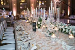 Long Table Design with Fresh Flowers