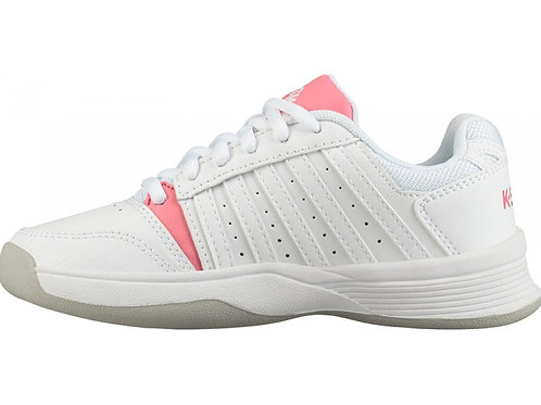 K Swiss Court Smash Indoor Junior White Pink