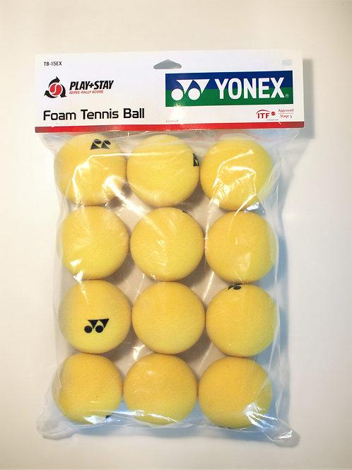 Deze Yonex foam tennisballen zijn 75% langzamer dan standaard tennisballen en zi