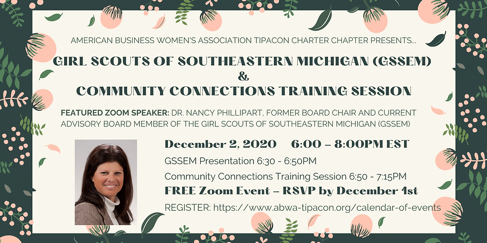 GIRL SCOUTS OF SOUTHEASTERN MICHIGAN (GSSEM) & COMMUNITY CONNECTIONS TRAINING SESSION