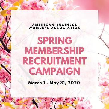 Spring membership recruitment campaign.p