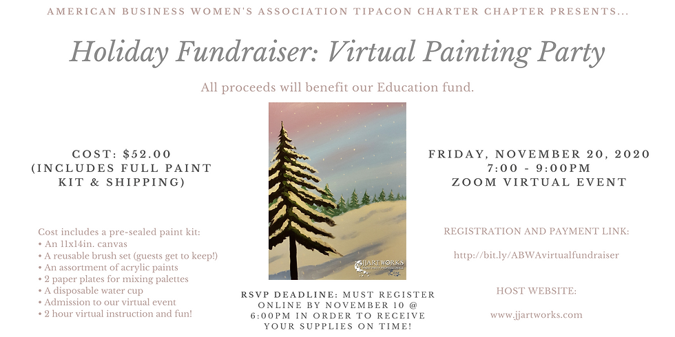 Holiday Fundraiser: Virtual Painting Party