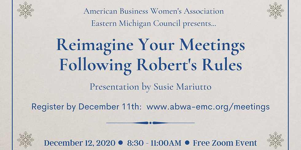 Reimagine Your Meeting Following Robert's Rules
