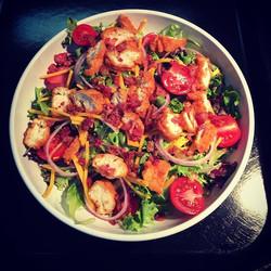 Chicken BLT Salad #parksidedrivein#salads#homemadedressings#eatlocal