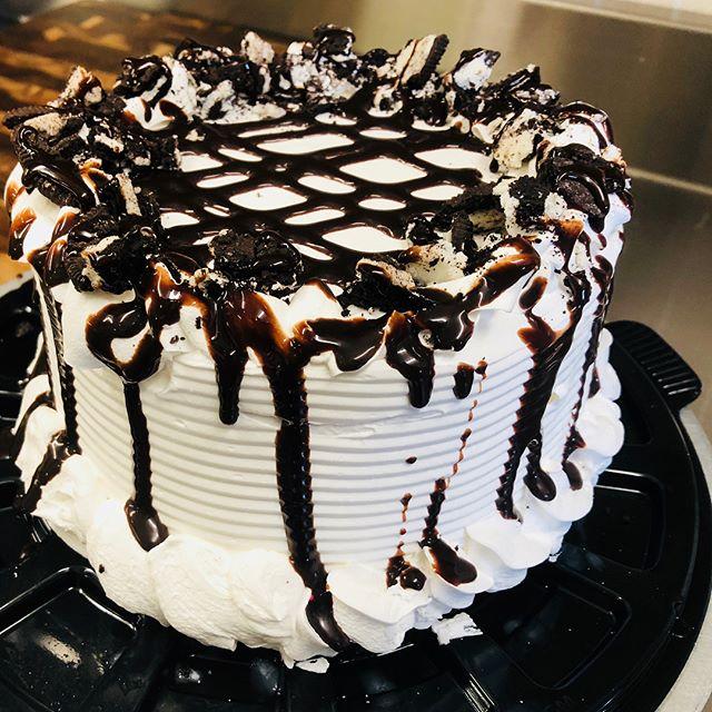 Homemade Ice Cream Cakes #parksidedrivein#delicious#perfectforanyoccasion