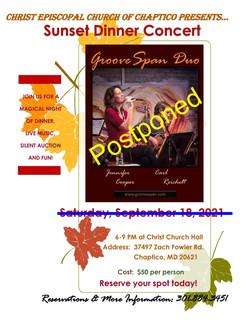 Flyer 1 - CCKQP Fall Fundraiser 2021-Postponed