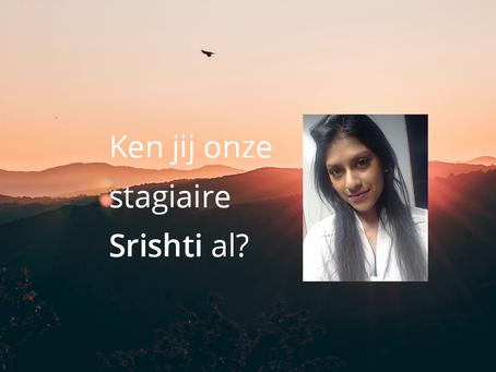 Meet the intern... Srishti Piarelal!