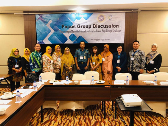 FGD session with hospitals and Public Health centers (Puskesmas) in Surabaya city