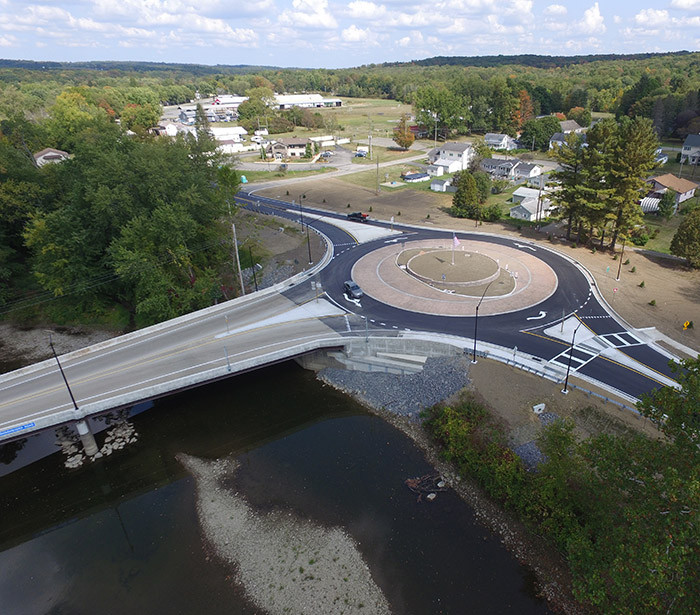 Saegertown State Route 198 Bridge + Round-A-Bout