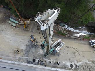 Ewings Mill Bridge Caisson Drilling