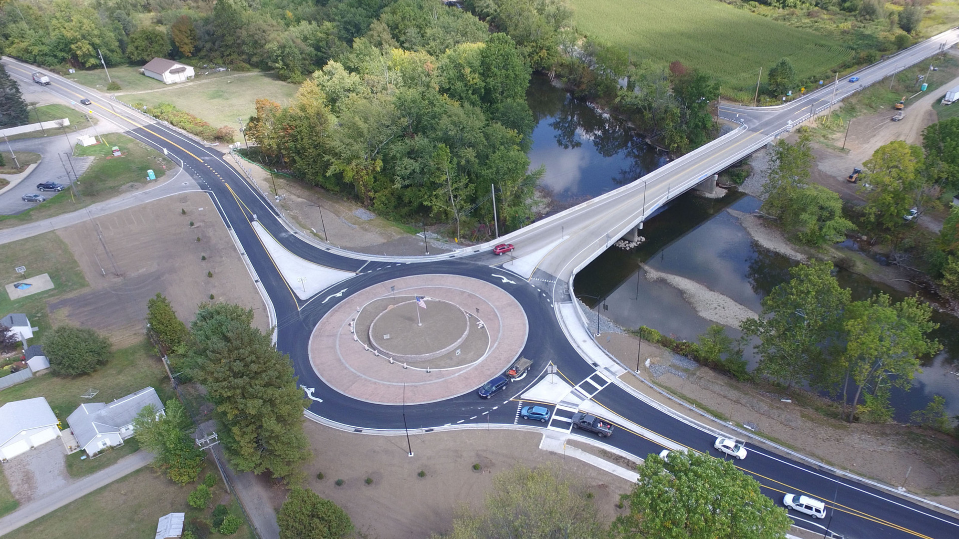 Sagertown Bridge and Round-a-Bout