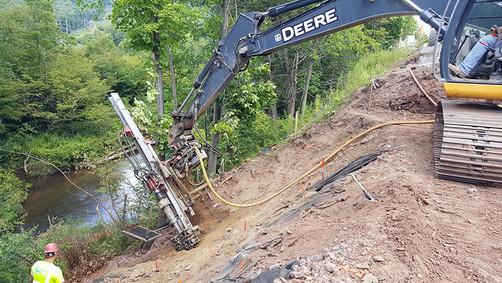 Soil Nail Slide Repair