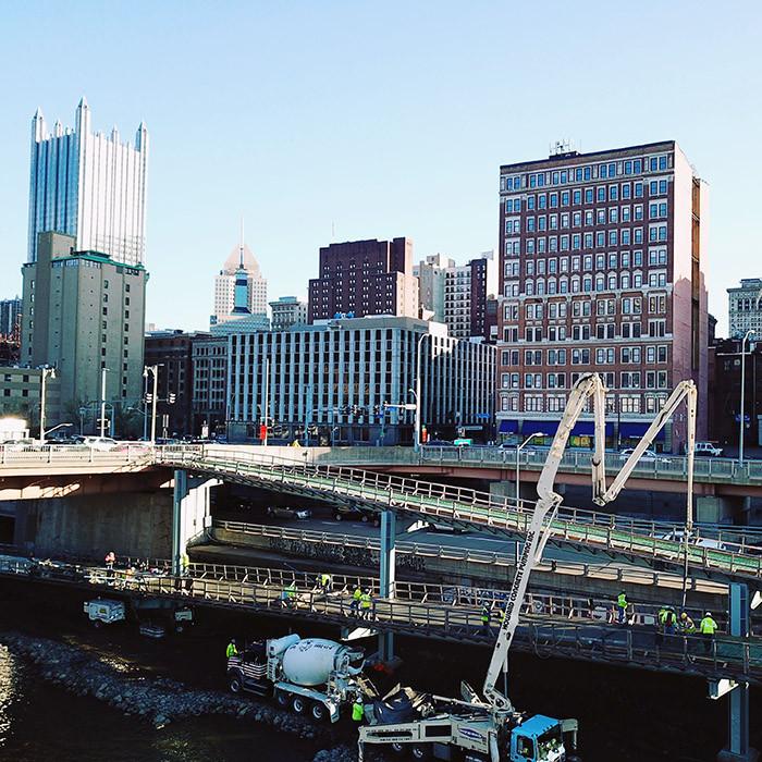 Allegheny County - Mon Wharf Switchback Pedestrian Bridge