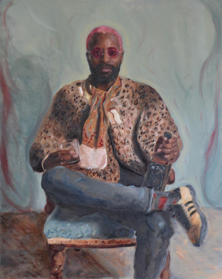 Ben in Leopard Print Shawl