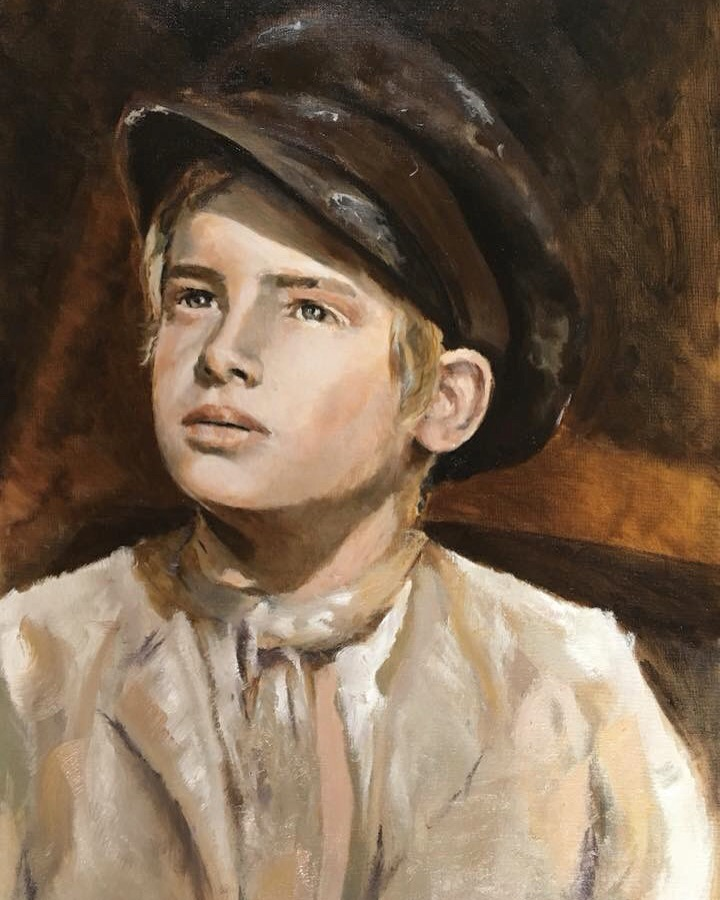 Oliver Twist, Oil on Board