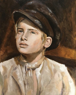 Oliver Twist, Oil on Board