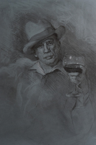 Study of Dave Beer for Painting