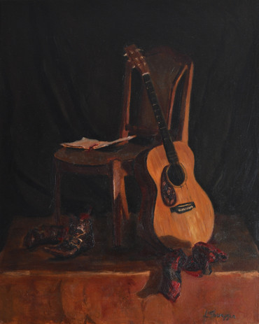 Still Life with Guitar and Boots